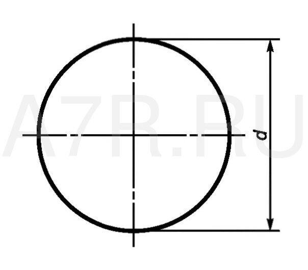 чертеж круга  4 AISI 304